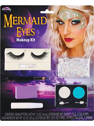 Fun World Women's Mermaid Eye Make Up Kit, Multi, -