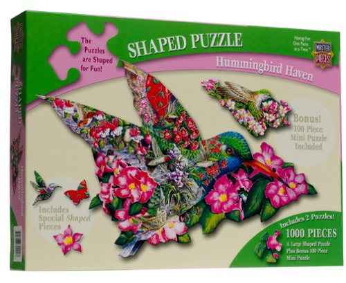 Hummingbird Shaped Jigsaw Puzzle 1000 Piece w/bonus Mini Puzzle