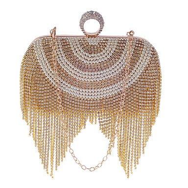 Luxe de femme Tassel soir Pearl Mode du Silver sac de Zircon l'oxydation BRZrqwB6x