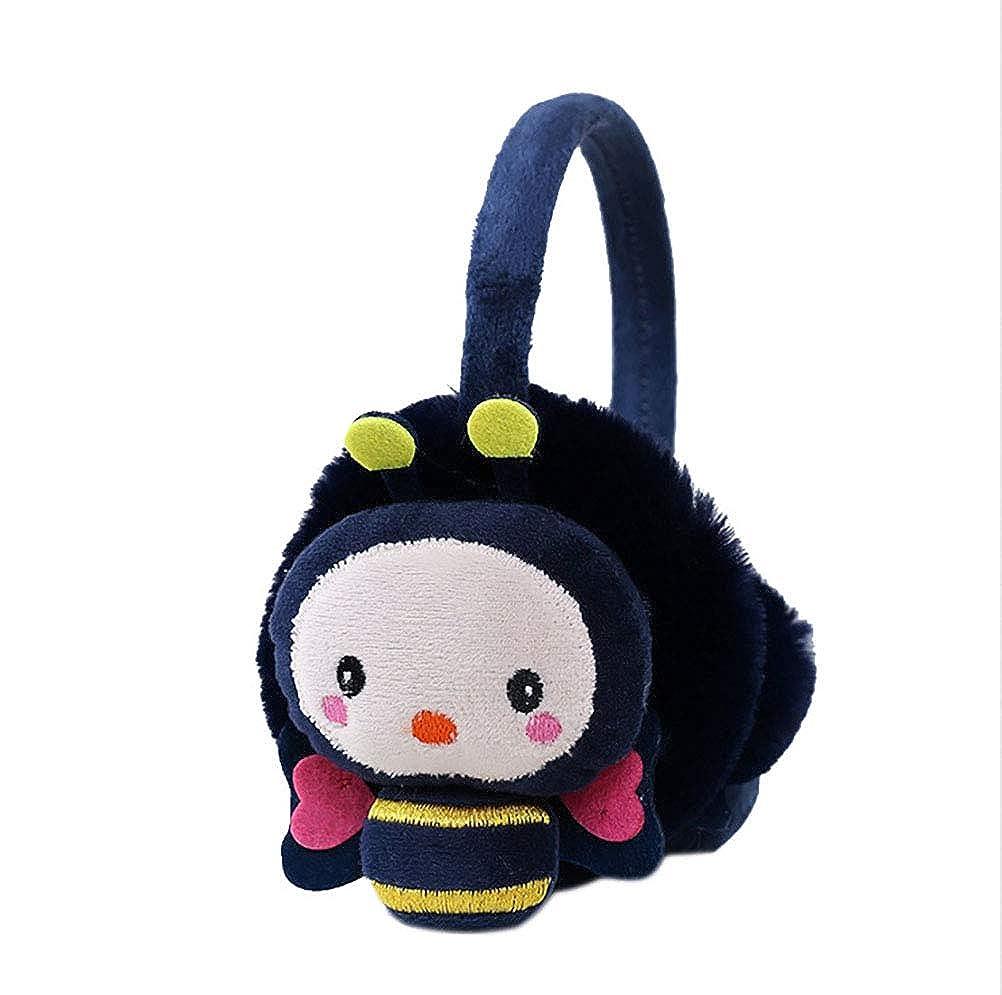 UGUAX Kids Boys Girls Winter Earmuffs Cute Cartoon Bee Ear Warmer for Outdoor