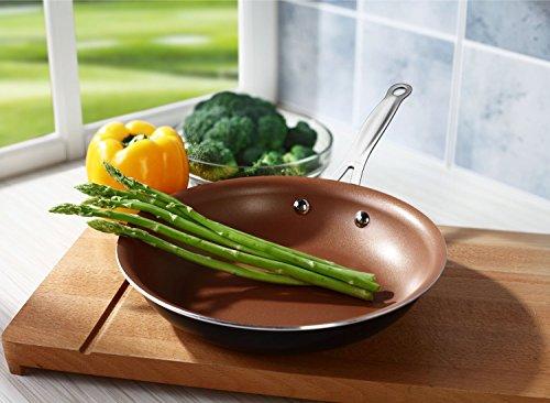 Copper pan 8' Nonstick , profetional cook, 5 ways to cook