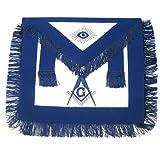 Masonic Blue Lodge Apron with blue fringe for the Freemason