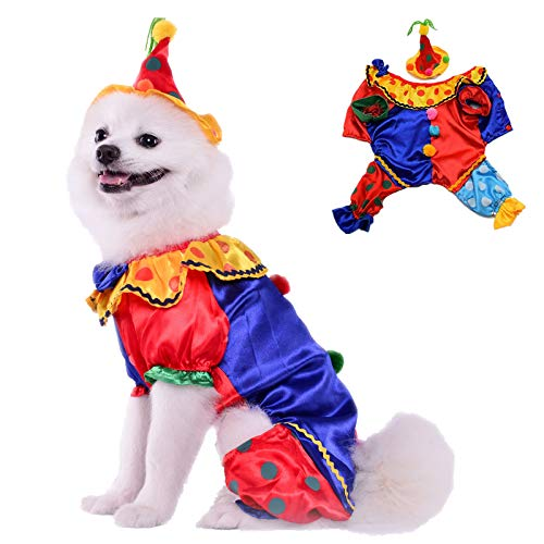 (Leowow Dog Halloween Costume with Hat for Party Apparel)