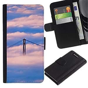 iBinBang / Flip Funda de Cuero Case Cover - Naturaleza Puente de San Francisco Nube - Sony Xperia Z1 Compact D5503