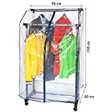 "ArtMoon Anti Duster Soft Clear Transparent Cover for Garment Rack 37""X23""X59"""