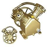 Domeiki 5HP Twin Cylinder Air Compressor Pump Dual 2 Piston V-Style Motor Head Tools