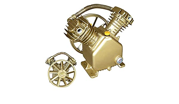 Amazon.com: Domeiki 5HP Twin Cylinder Air Compressor Pump Dual 2 Piston V-Style Motor Head Tools: Health & Personal Care