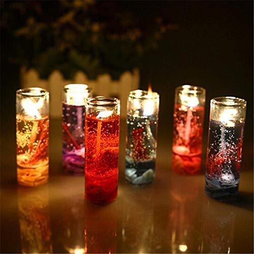 Nicemeet Valentine's Day Romantic Candle, Marine Candle Jelly Candle Create A Romantic Holiday Atmosphere Random Color