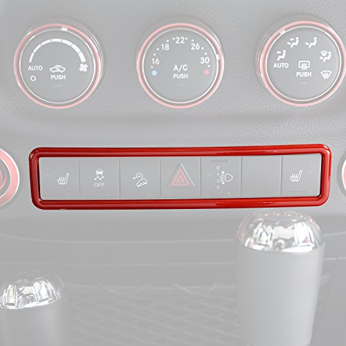 Opar Red Emergency Light Switch Cover Trim for 2011-2018 Jeep JK Wrangler & Unlimited