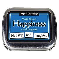 Poesía magnética - Caja pequeña de kit de felicidad - Palabras para refrigerador - Escribir poemas y letras en la nevera - Hecho en los Estados Unidos