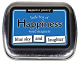 Magnetic Poetry Little Box of Happiness Kit - Words for Refrigerator - Write Poems and Letters on the Fridge - Made in the USA