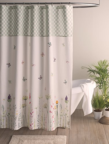 Maison d' Hermine Botanical Fresh 100% Cotton Shower Curtain 72 Inch by 72 Inch - Designed in Europe Machine washable Package includes : 1 shower curtain without hooks - shower-curtains, bathroom-linens, bathroom - 51ECCMgnaeL -