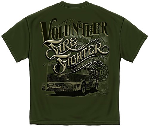 Erazor Bits Firefighter T-Shirt Volunteer American Classi...
