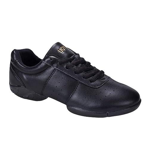 Gtagain Jazz Tanzschuhe Training Schuhe Damen Leder Lace