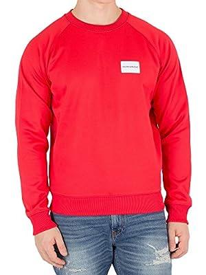Calvin Klein Jeans Men's Chest Badge Sweatshirt, Red