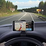 Car Mount HUD Design Car Phone Holder GPS Cell Phone Cradle for iPhone 7s 6s Plus 6s 5s 5c Samsung Galaxy S8 Edge S7 S6 Note 5