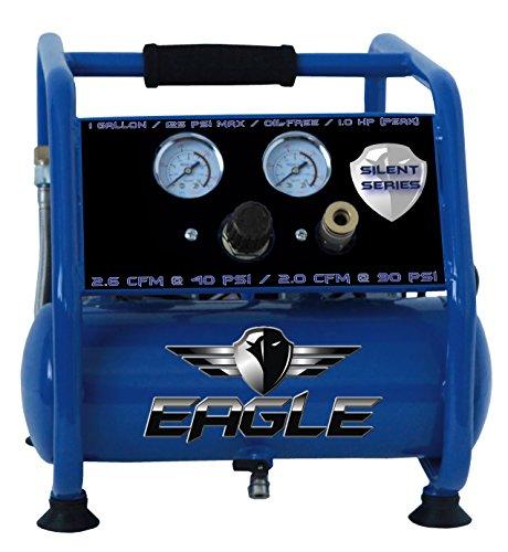Eagle EA-3000 Silent Series 3000 Air Compressor 125 MAX psi Hot Dog with panel, Blue, 1 gallon (3000 Psi Compressor)