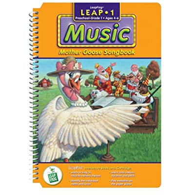 None LeapPad: Leap 1 Music - Mother Goose Songbook Interactive Book and Cartridge: Toys & Games