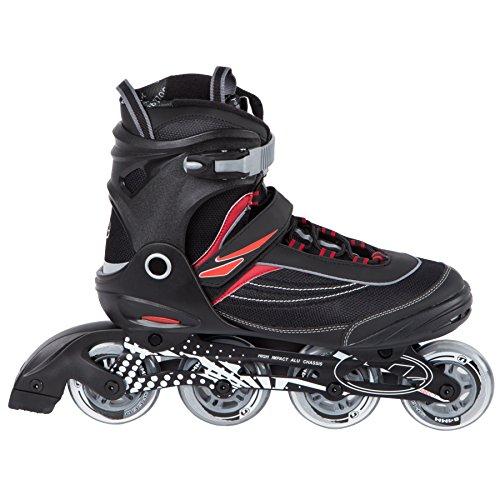 Skate Line Red Hockey In - Ultega Men's U-Turn Size 9 Inline Skates, Black/Red