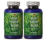Spirulina blue green algae powder – BLUE GREEN ALGAE – support nervous system (2 bottles) For Sale