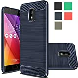 Asus Zenfone V Live Case, Rnicy Slim Anti-fingerprint Rubber Soft TPU Flexible Brushed Texture Protective Cover Case For Asus Zenfone V Live V500KL (Verizon) (Navy)