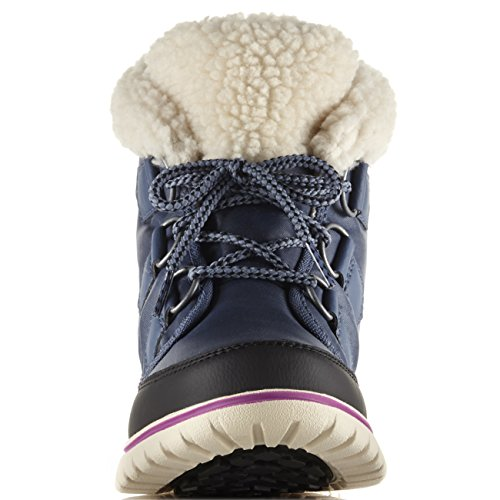 Womens Sorel Cosy Carnival Hiking Casual Winter Snow Walking Stivaletti - Dark Mountain, Black - 6