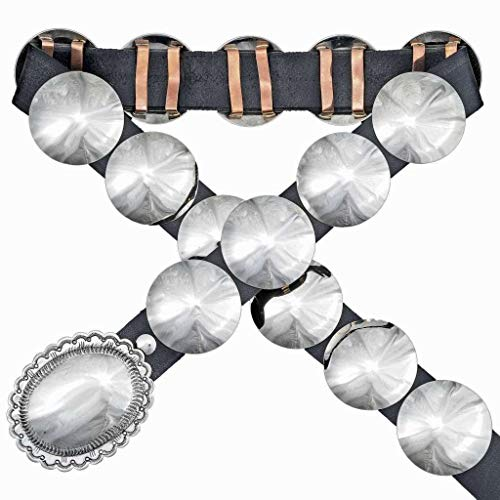 Navajo Domed Silver Concho Belt Second Phase Style 1223
