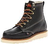 """Thorogood Men's 6"""" Black Moc Toe Boot,Black Oil,7.5"""