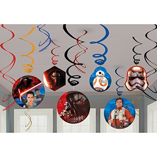 Amscan Star Wars Episode VII Hanging Decorations, Party
