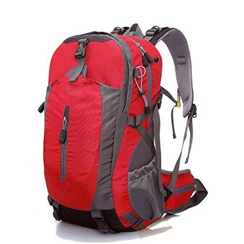 Alpinismo Al Aire Libre Mochila De Viaje 40L,Red red