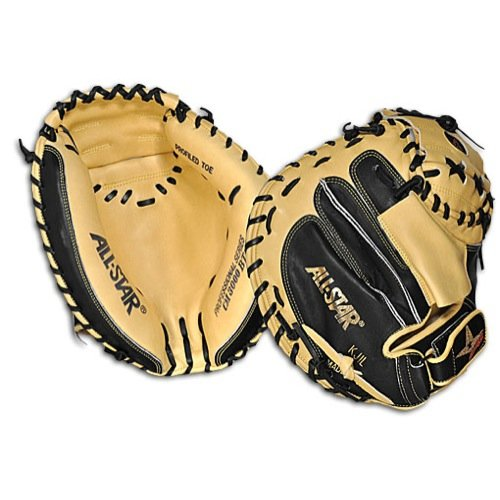 All Star Pro Elite CM3000SBT 33.5 Inch Baseball Catchers Mitt - Right Hand Throw (Tanned Tee)