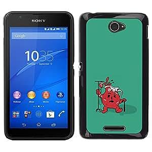 Sony Xperia E4 - Metal de aluminio y de plástico duro Caja del teléfono - Negro - Funny Cool Aid Jug