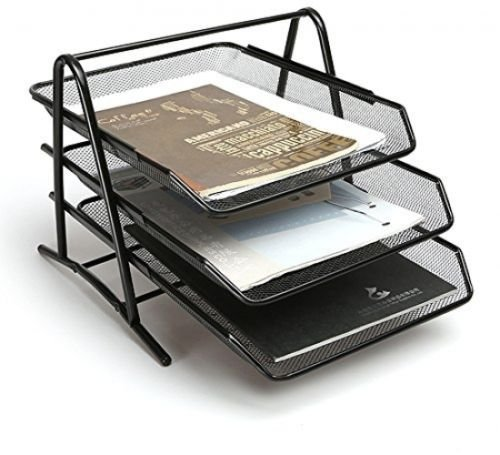 Sparco Steel Mesh 3-Tier Mesh Desk Tray (Sparco Mesh)