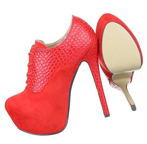 Damen Stiefeletten Schuhe Ankle Stiefel Schwarz High Heels Schwarz Stiefel Blau Rot 35 36 37 38 39 40 41 Rot 2c0fd2