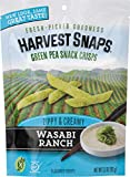 Harvest Snaps Green Pea Snack Crisps, Wasabi Ranch, deliciously baked and crunchy veggie snacks with plant protein and fiber, 3.3-Ounce Bag (Pack of 12)