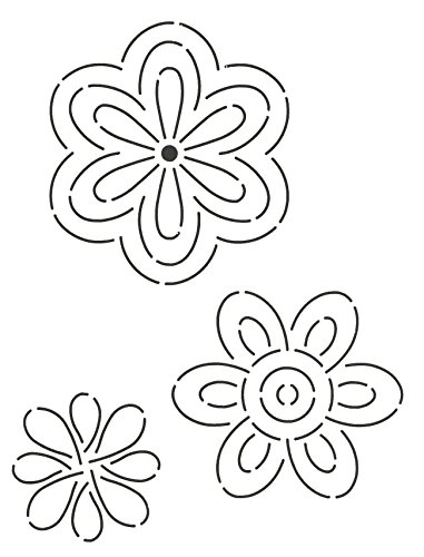 Quilting Creations DAY11QC Flowers Quilt Stencil by Quilting Creations