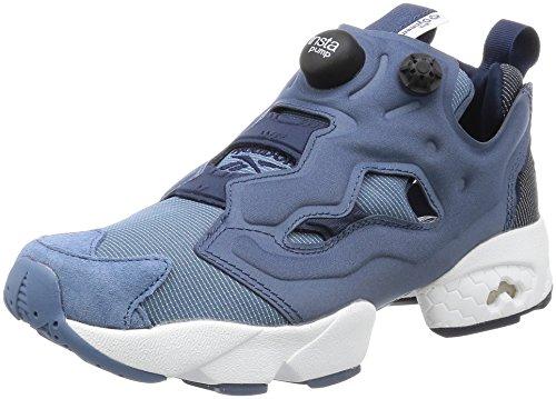 Reebok Instapump Fury Tech Mens Running Sneakers Da Ginnastica Royal Blue Navy Blu Aq0624
