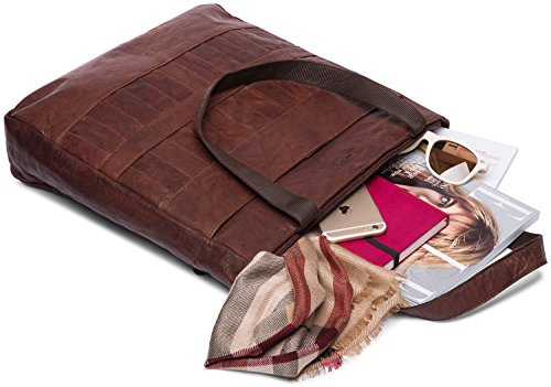 In Vintage Donna Pelle Cirebon Di Bufalo Leabags Da Vera Borsa Bole pOIFxXqp