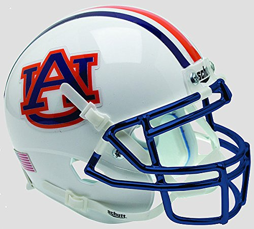 - Schutt Auburn Tigers Mini XP Authentic Helmet Chrome Mask - NCAA Licensed Gift