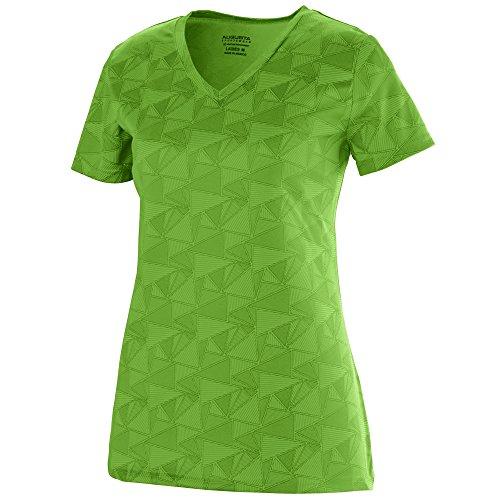 Augusta Sportswear Women's Elevate Wicking T-shirt 2XL Lime/Black Print