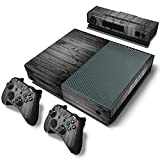 Mod Freakz Console and Controller Vinyl Skin Set - Black Gray Wood for Xbox One