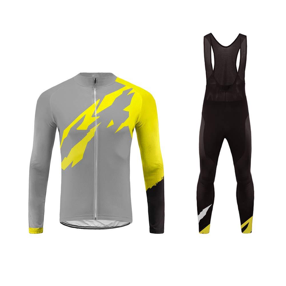 Uglyfrog Extrem Sichtbares Farbe Designs -Herren-Fahrrad-Jersey - Lang-Ärmel-Slim-Fit-Fahrrad/MTB-Shirt