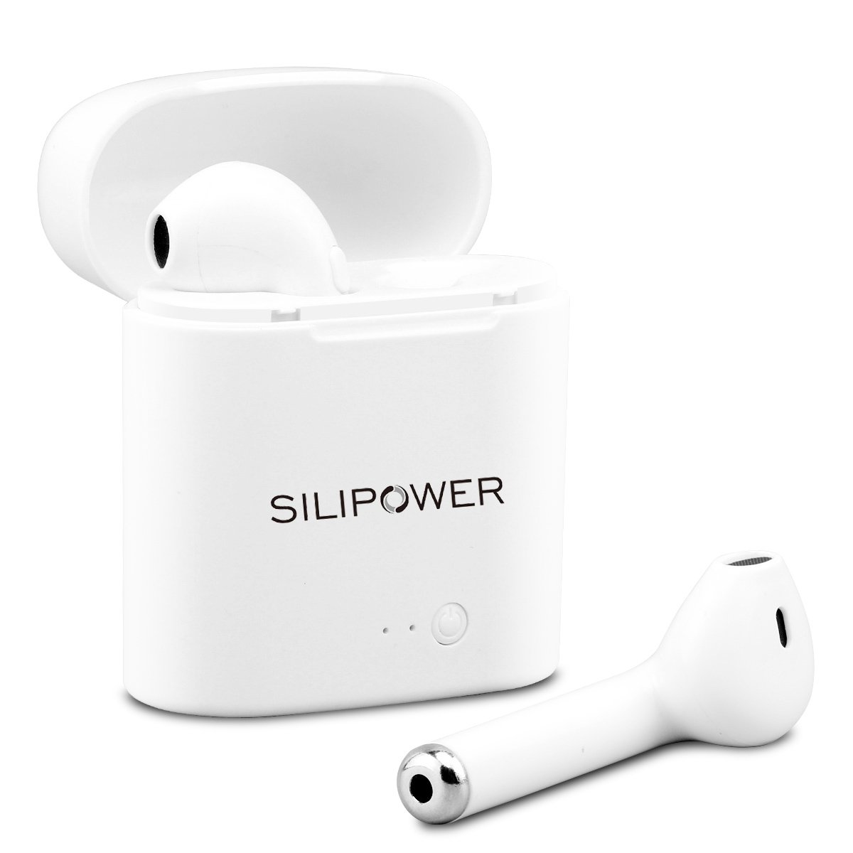 Bluetooth Earbuds,Silipower Wireless Headphones Sweatproof Headsets Stereo In-Ear Earpieces Earphones With Noise Canceling Microphone for iPhone X 8 8plus 7 7plus 6S Samsung Galaxy S7 S8 IOS Android