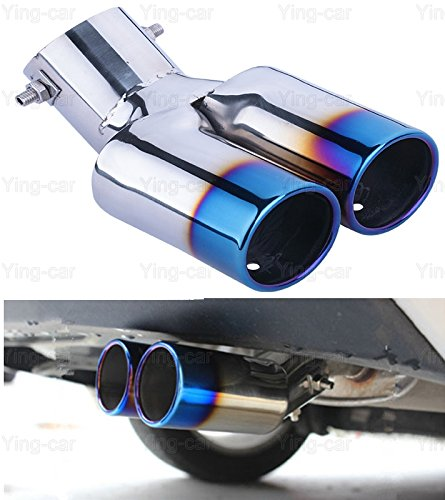 Double Outlets Exhaust Muffler Tail Pipe Tip Tailpipe for Chevrolet Cruze 2009-2018 Yingchi