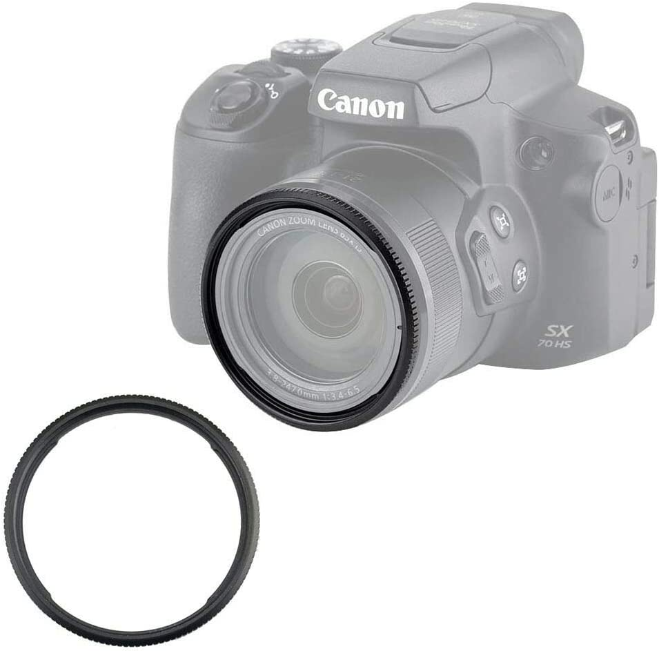 Adapter Included Circular Polarizer CPL Filter for Canon Powershot SX70 HS