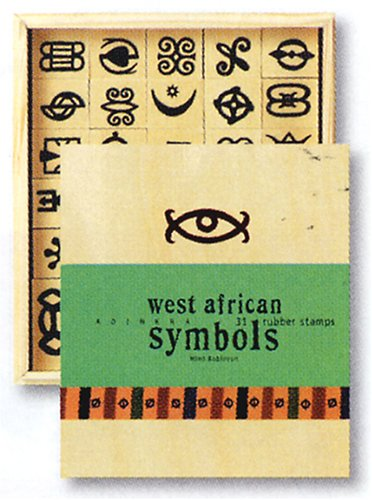 amazon com west african adinkra symbols 31 rubber stamps