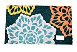 Home Garden Hardware 37471 Large Floral Printed Coir Doormat,Natural,Small