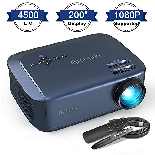 Video Projector, GuDee 4500 LM Business Projector for Office PowerPoint Presentations (with PPT Clicker), 200