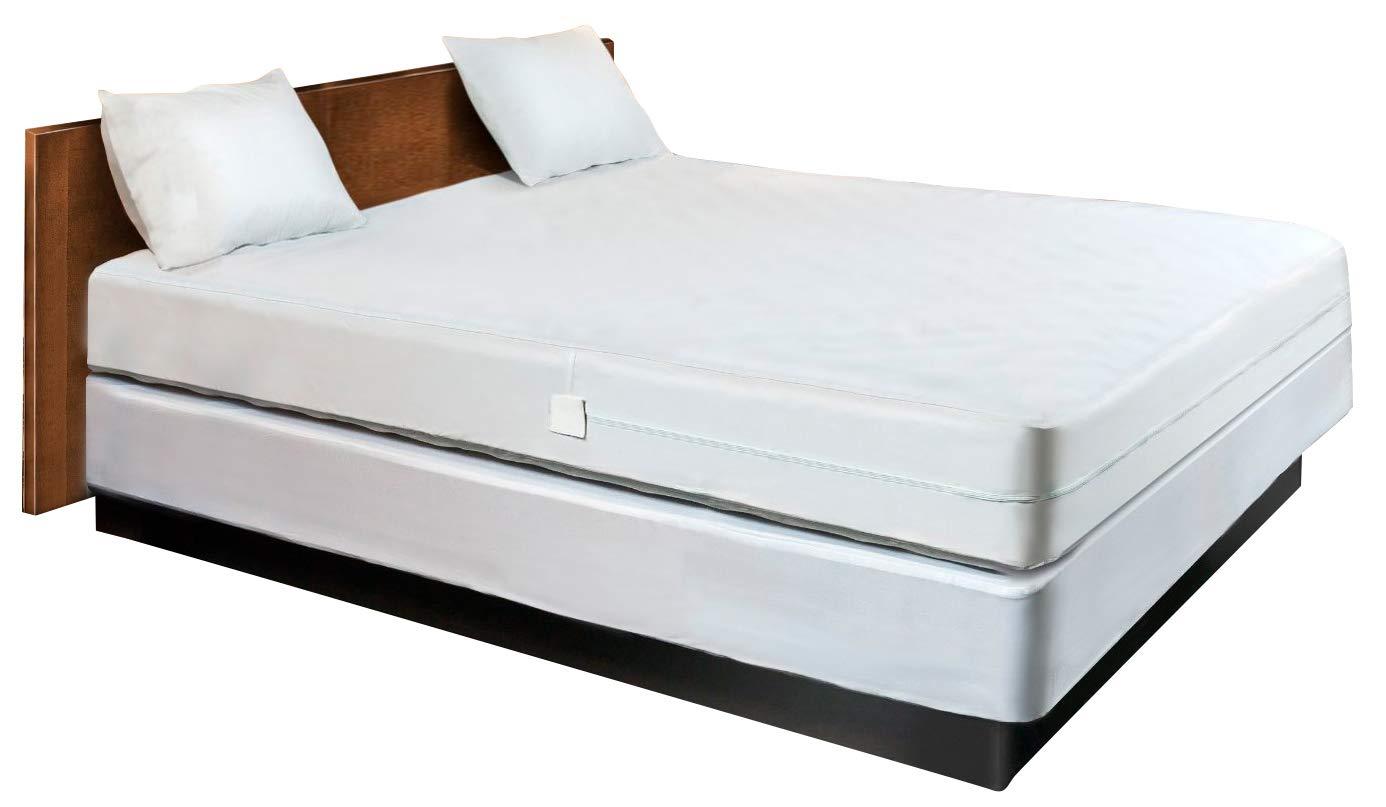 Waterproof Mattress Protector Encasement Hypoallergenic Bed Bugs Proof (Twin Size)