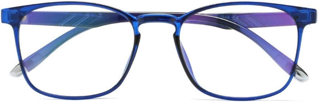 Color : Black M/änner Olprkgdg Anti-Blaulicht transparente S/ü/ßigkeiten Farbe leichte TR90 Blaue Film Computer Schutzbrille f/ür Frauen